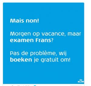 KLM denkt mee