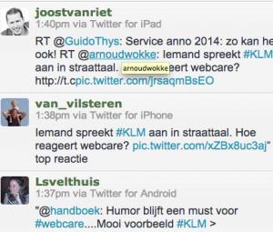 KLM en Twitter